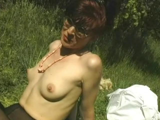 Outdoor pussy drilling