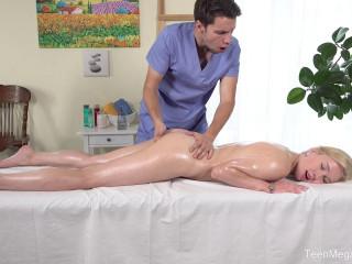 Hard work on massage table HD