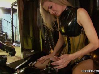 Condom Slut - Lady Blackdiamoond and Bizarr Lady Alice - HD 720p