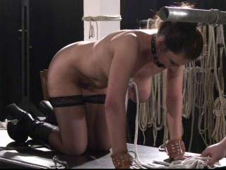 Toaxxx - tx122 Xtreme Breast Restrain bondage for Bettine - pt 1