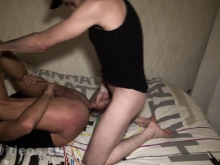 Darko gives a taste of his large caliber to Ilan Manson