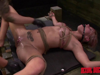 Marsha May Suffers Rope Bondage, Fucking Machine, Suck BJ, Harsh Intercourse