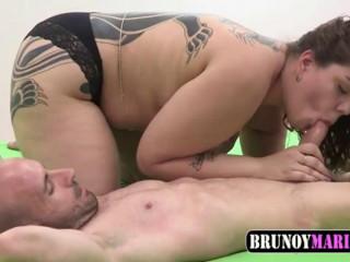 Skinny freak and BBW whore