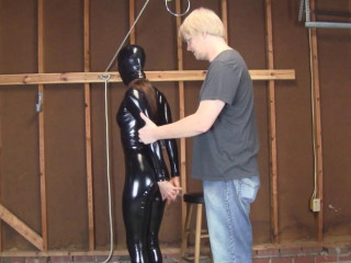 Madalynn Raye - Rigidly Hooded, Catsuited, and Roped