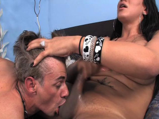 AndreaNobiliProductions Brunette shemale gives her cock