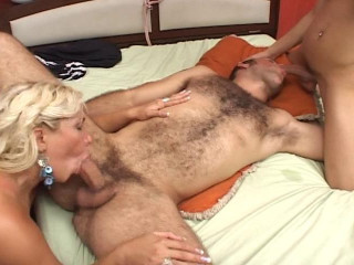 [Juicy Entertainment] A she-creature romps my hubby and i get to plow him too Gig #1