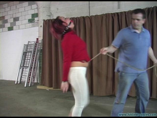 Brandy Captured and Hogtied - Extreme, Bondage, Caning