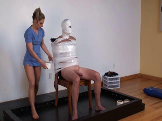 Spandex Man-meat Mummy to Pop Wrapped