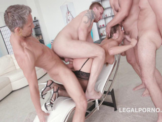 Allen Benz first time orgy in porn with intense double anal