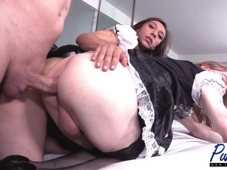 French Maids Take Care Of Their Master