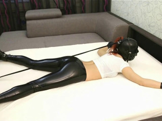Bondage, domination, hogtie and torture for sexy bitch