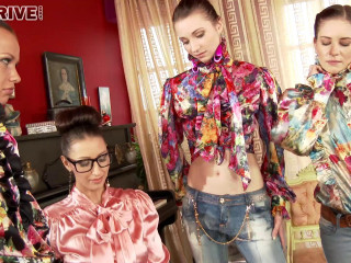 Orgy and Jenny with torn jeans