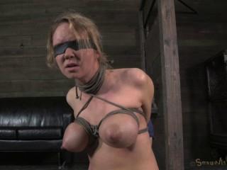 Big breasted blonde Rain DeGrey brutally deep throated