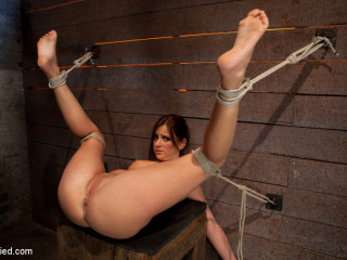 Super-cute 20yr elderly gal next door, trussed with gams up & spread, sole torture, caning, finger romped hard!