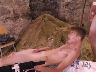 Bare Buff Builders, Sc.1 Dreamin Blond Builder Gets His Cute Arse Hammered & Gaped!