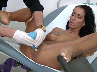 Gynecological examination orgasm