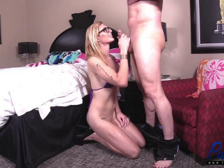 Frustrated TS Girlfriend Gets Some Stress Relief