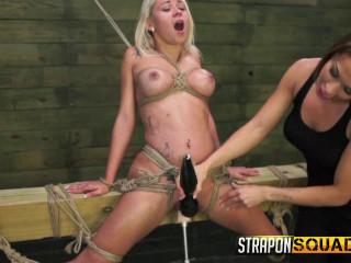 Marsha May Enjoys Strap Restrain bondage & Girl-on-girl Supremacy with Kylie Rogue