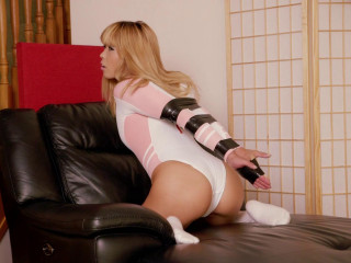 Pink Realise Bodysuit and Electrical Tape
