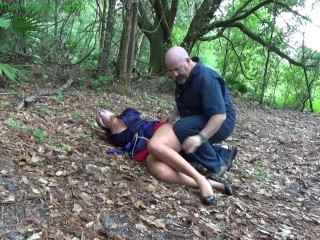 HunterSlair - Angel Rose - Bound, gagged and lost in the woods