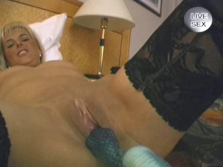 Blonde in nylon pantyhose