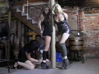 Briella Jaden, Constance, Dixie Comet - Strippers kept trussed up
