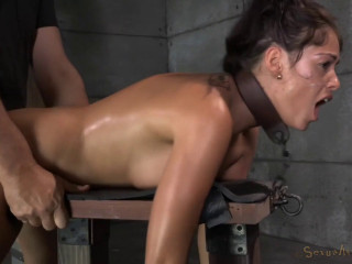 Busty Brunette Ava Dalush Chained