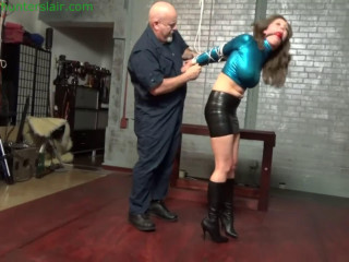 Bondage, domination and strappado for young beautiful girl
