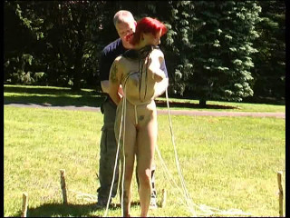 More Outdoor Slave Training for Melanie