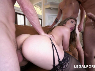 Lena Paul Takes on three Cocks every hole stuffed to the max Nasty (2019)