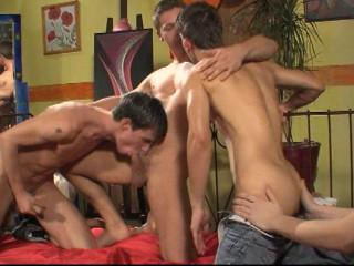 Amazing Tight Sluts In Bareback Orgy