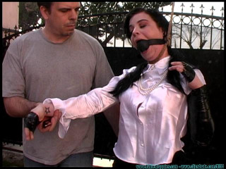 Backyard Bondage Fun with Sybil Hawthorne - Scene 1