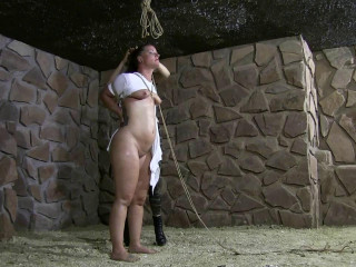 Brutally tight Hogtie in the new Dungeon