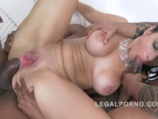 Large ass tramp group-fucked by phat chisels with dual anal invasion