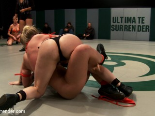 4 girl un-scripted Tag Team wrestling! Shot live, in front of a public audience Brutal sexual action