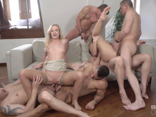 Take On Five Guys Together For A Group Sex Fuck 1080p
