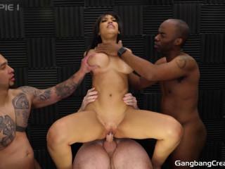 Big Tits Slut Gia Milana Gangbanged By Many Cocks With Creamie
