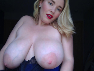 Busty milf annabel squeezing her oily tits hard