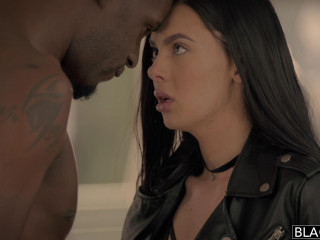 Sexy Model Enjoys Big Ebony Beef whistle - Marley Brinx & Jason Chocolate-colored