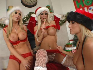 Christmas Gangbang Party With Big Tits Babes