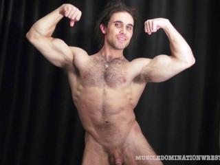Muscle Model - Bodybuilder Morgan Cruise Nude VIP Oil Flex