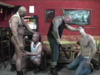Rough Skinheads In Orgy