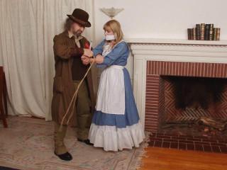 Blue Girl in the Fireplace - Lorelei and Jon Woods