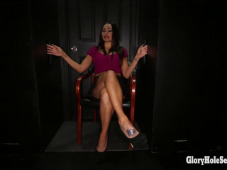 Claudia's First Gloryhole Video