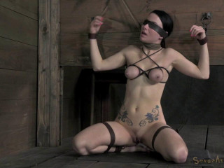 Veruca James shackled & chained, facefucked hard