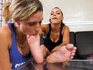 Miss Sasha Foxxx strict foot gagging of Honey