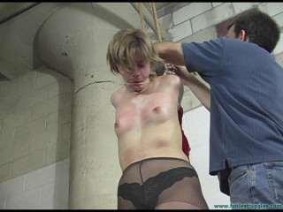 Secretary Punished with Tight zip ties and Fishing line - Eden - Part 2