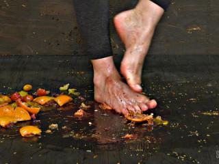 Sensualpain Foot Victim Graphic Food Kicking