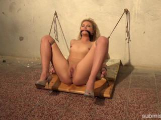 Bound Blonde Babe Gets Machine-Fucked In The Basement - Angel Diamonds - HD 720p
