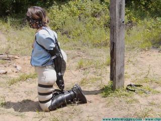 Outdoor Leather Restrain bondage